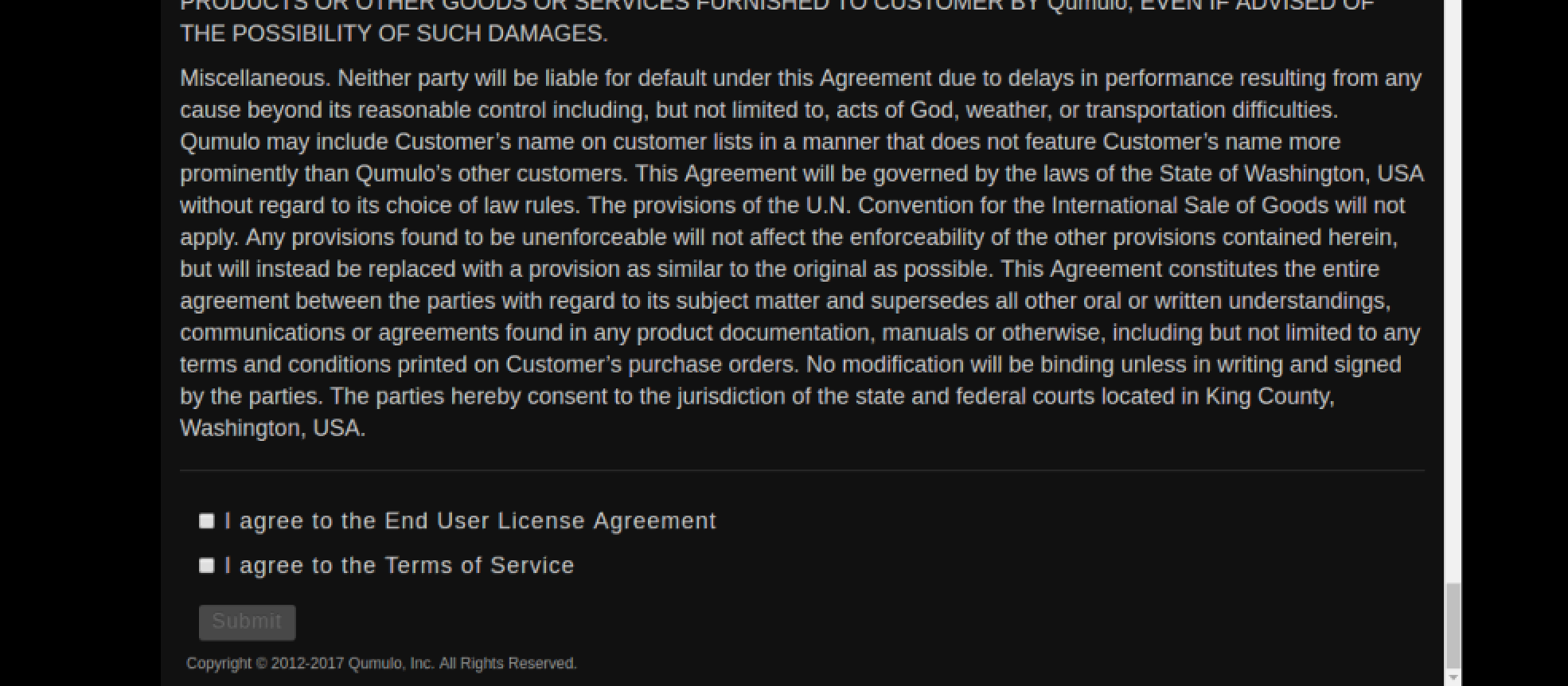 EULA agreement