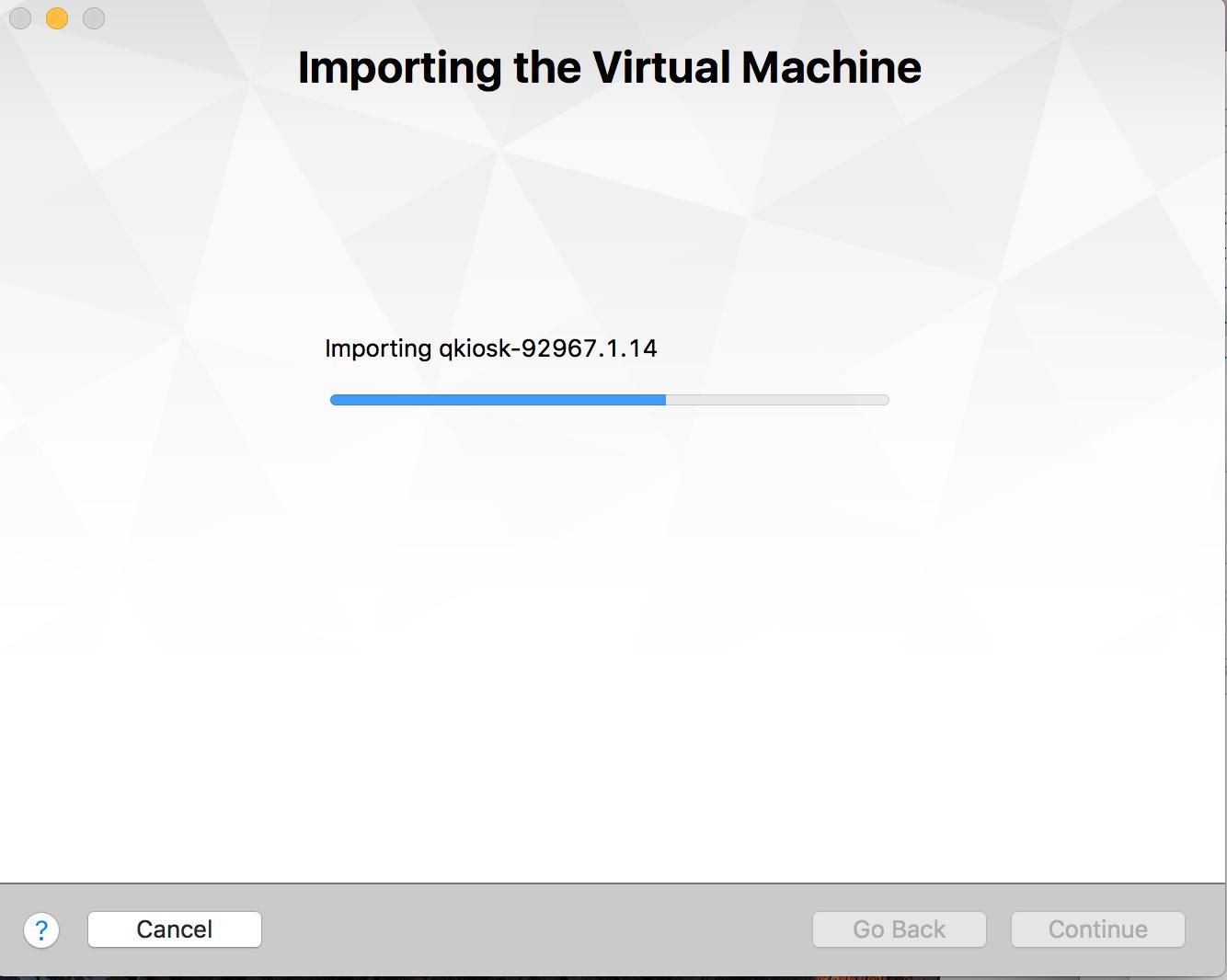 Importing VM