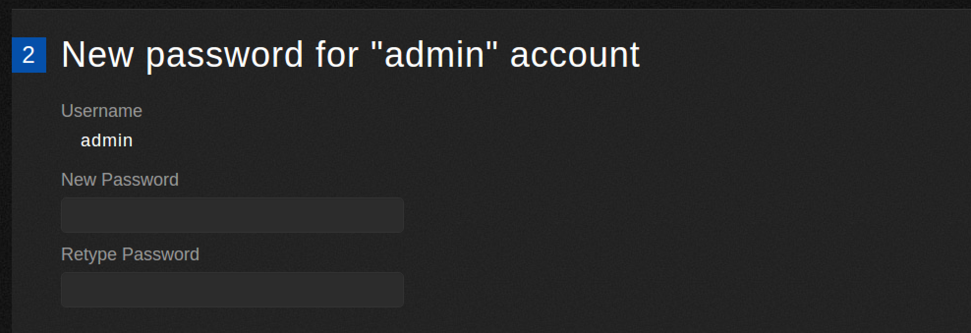 Enter admin password