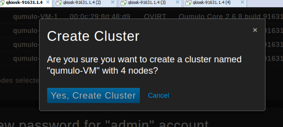Verify create cluster