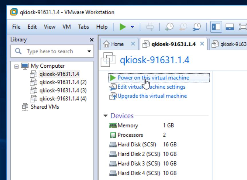 VMware power on instance #1