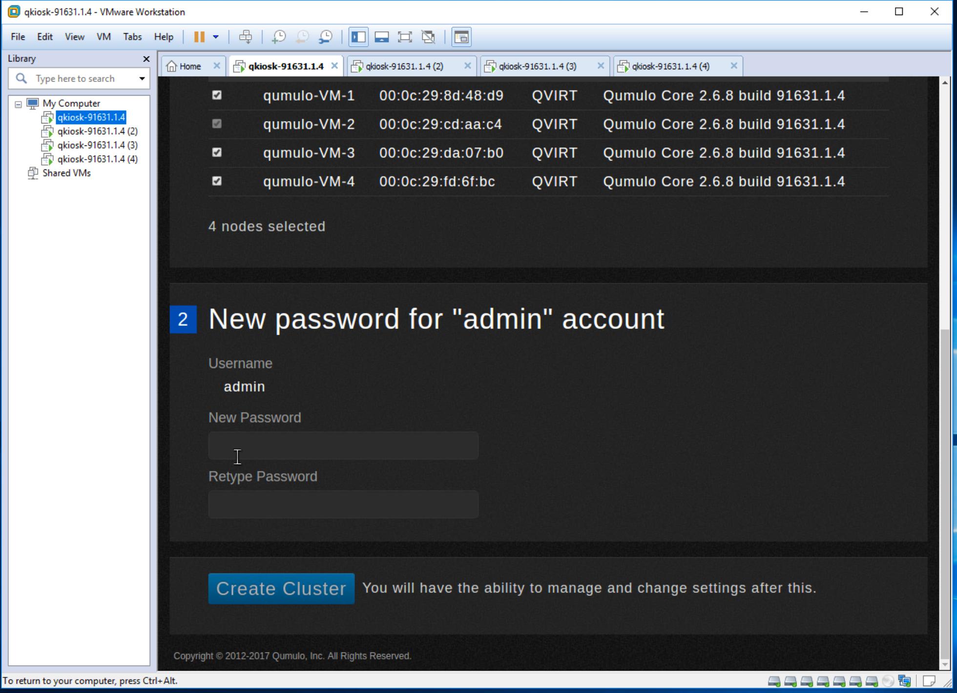 set admin password