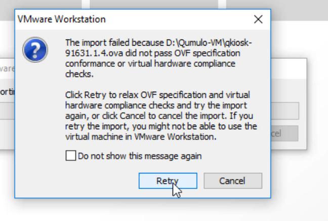 VMware initial warning